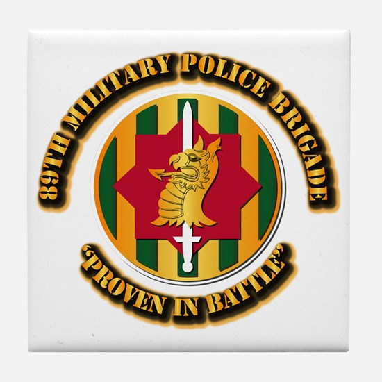 Army - SSI - 89th Military Police Brigade Tile Coa