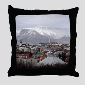 Reykjavik Blues Throw Pillow