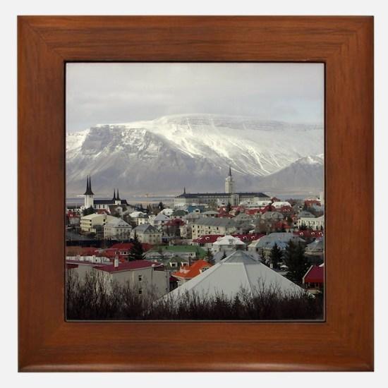 Reykjavik Blues Framed Tile