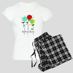 Retired Nurse Floral Pajamas