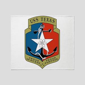 USS Texas (CGN 39) Throw Blanket