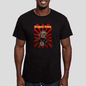Dragon Drum2 Men's Fitted T-Shirt (dark)
