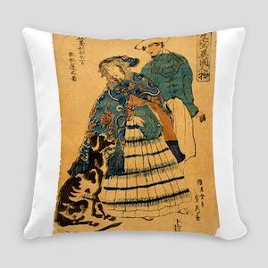 Sadahide Utagawa - American Lady Playing Accordian