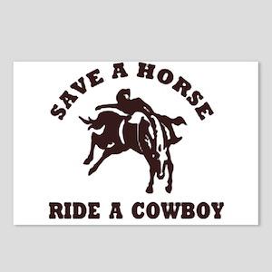 Save a horse,Ride a cowboy - 8 postcards