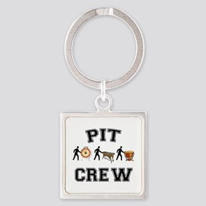 Pit Crew Square Keychain