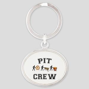 Pit Crew Oval Keychain