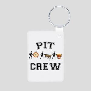 Pit Crew Aluminum Photo Keychain