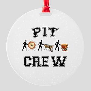 Pit Crew Round Ornament