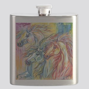 Three Wild horses Flask