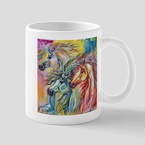 Three Wild horses Mug