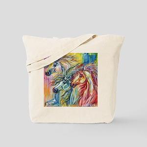 Three Wild horses Tote Bag
