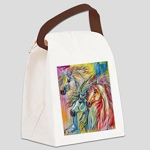 Three Wild horses Canvas Lunch Bag