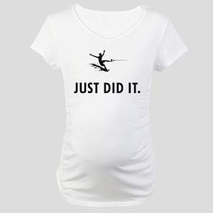 Waterskiing Maternity T-Shirt