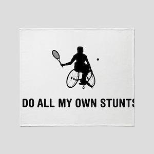 Wheelchair Tennis Throw Blanket