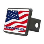Born in the USA Rectangular Hitch Cover