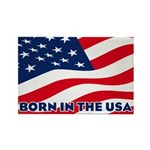 Born in the USA Rectangle Magnet (100 pack)