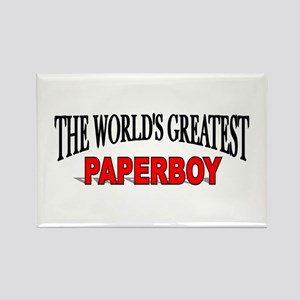 """""""The World's Greatest Paperboy"""" Rectangle Magnet"""