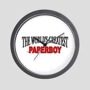 """""""The World's Greatest Paperboy"""" Wall Clock"""