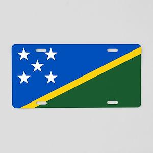 Solomon Islands Flag Aluminum License Plate
