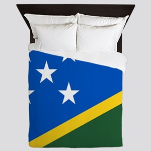 Solomon Islands Flag Queen Duvet