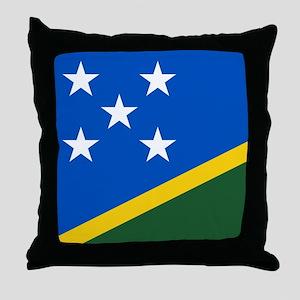 Solomon Islands Flag Throw Pillow