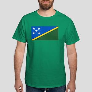 Solomon Islands Flag Dark T-Shirt