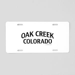 Oak Creek Colorado Aluminum License Plate