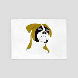 Boxer Dog 5'x7'Area Rug