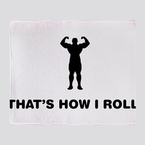 Strong Man Throw Blanket