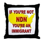 Immigration Throw Pillow