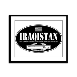 Iraqistan CIB Framed Panel Print