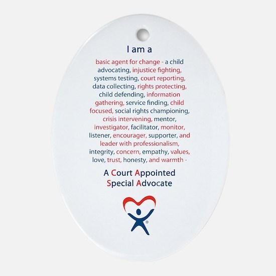 I am a CASA Ornament (Oval)