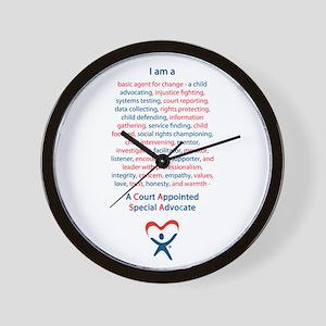 I am a CASA Wall Clock
