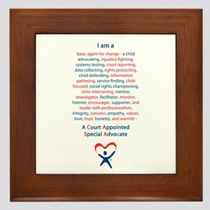 I am a CASA Framed Tile