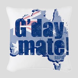 G'day Mate Woven Throw Pillow