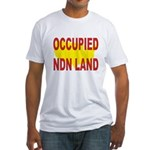 Occupied NDN Land Fitted T-Shirt