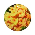 Lantana Orange Explosion Cluster Ornament (Round)