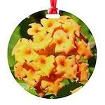 Lantana Orange Explosion Cluster Ornament