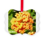 Lantana Orange Explosion Cluster Ornament