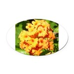 Lantana Orange Explosion Cluster Oval Car Magnet