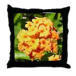 Lantana Orange Explosion Cluster Throw Pillow