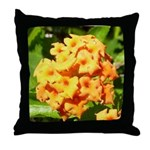 Lantana Orange Explosion Cluster Throw Pillow
