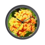 Lantana Orange Explosion Cluster Wall Clock