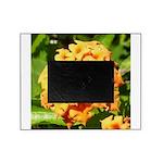 Lantana Orange Explosion Cluster Picture Frame