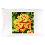 Lantana Orange Explosion Cluster Pillow Case