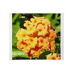 Lantana Orange Explosion Cluster Throw Blanket