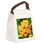 Lantana Orange Explosion Cluster Canvas Lunch Bag