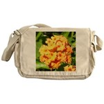 Lantana Orange Explosion Cluster Messenger Bag