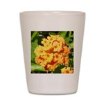 Lantana Orange Explosion Cluster Shot Glass