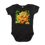 Lantana Orange Explosion Cluster Baby Bodysuit